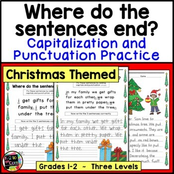 Christmas Punctuation and Capitalization; Where do the sen