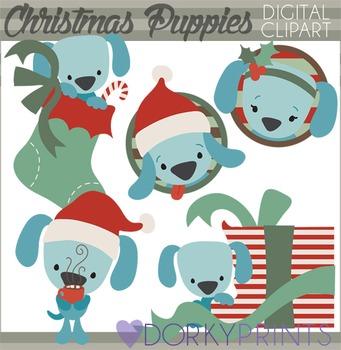Christmas Puppies Clip Art