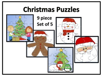 Christmas Puzzles 9 piece