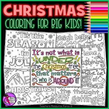 Christmas Coloring Pages Sheets: Christmas Doodle Quote Co