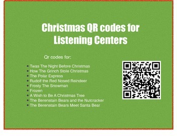 Christmas Read Aloud QR codes