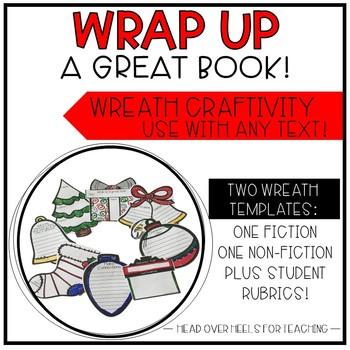 Christmas Reading Wreath Craftivity {Use with any fiction
