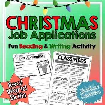 Christmas Reading and Writing Activity - Persuasive Writin