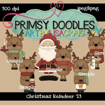 Christmas Reindeer 300 dpi Clipart