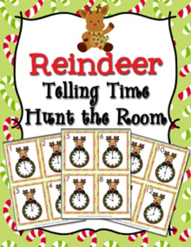 Christmas Reindeer Time to the Hour Hunt the Room