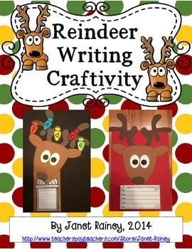 Christmas Reindeer Writing Craftivity