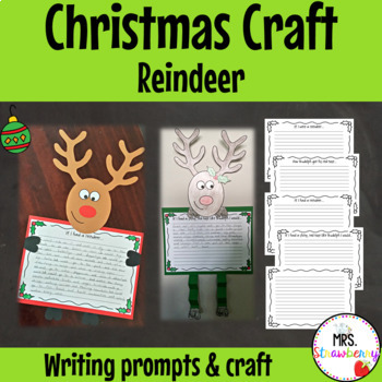 Christmas Reindeer Writing Prompts and Craft