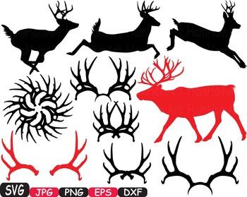 Christmas Reindeer deer wild Merry SANTA Ruldoph SVG snow