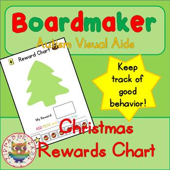 Christmas Reward Chart - Boardmaker / Autism / ADHD / ASD / PECS
