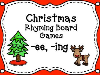 Christmas Rhyming Words Board Games