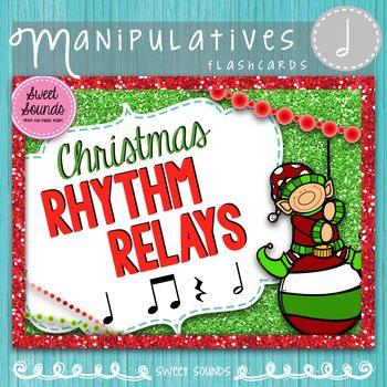Christmas Rhythm Relays {Taah Half Note}