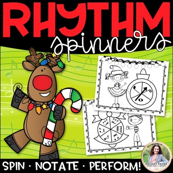 Christmas Rhythm Spinners {Color and Ink-Friendly}