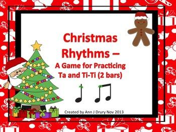 Christmas Rhythms: A Game for Practicing Ta and Ti-Ti (2 bars)