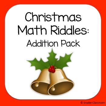 Christmas Addition Math Riddles