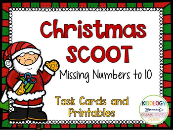 Christmas SCOOT Game Numbers 1-10