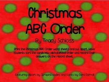 Christmas, Santa, ABC order,