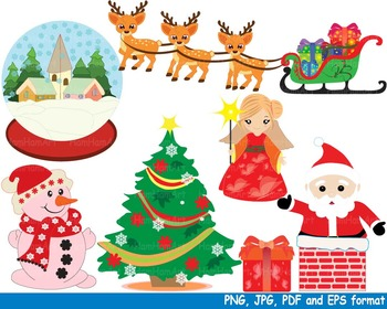 Christmas Santa Claus Clipart snowman school train toy rei