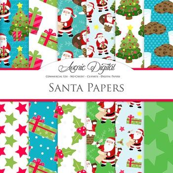 Christmas Santa Digital Paper