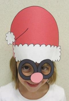 Christmas Santa Hat Sentence Strip Mask