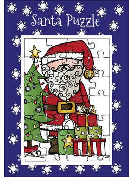 Christmas - Santa Puzzle FREEBIE!