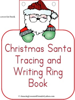 Christmas Santa Tracing and Writing Ring Book