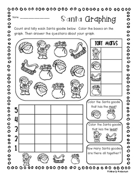 Christmas Santa - Elf Graphing Fun Activities!
