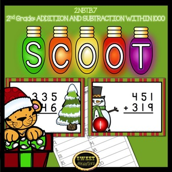Christmas Scoot or Task Cards Addition and Subtraction Wit