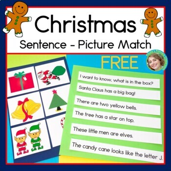 Christmas Sentence Picture Match