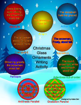 Christmas Sentence Styles for Bonsai Writing Assignments