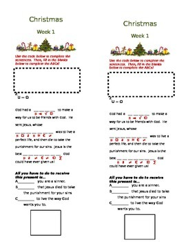 Christmas Series for Sunday School (2 lessons, includes wo