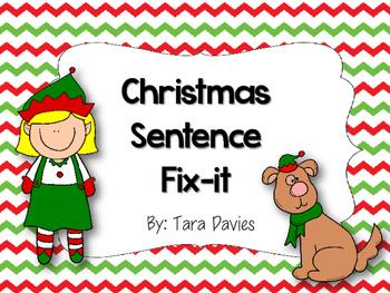 Christmas Setence Fix-it