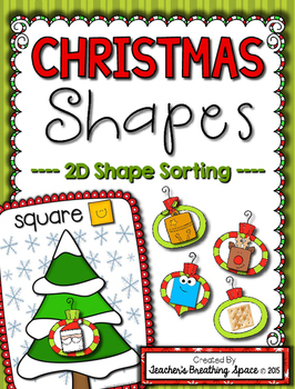 Christmas Shape Sorting --- 2D Plane Shape Sorting