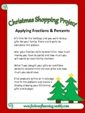Christmas Shopping Project: Fractions and Percents