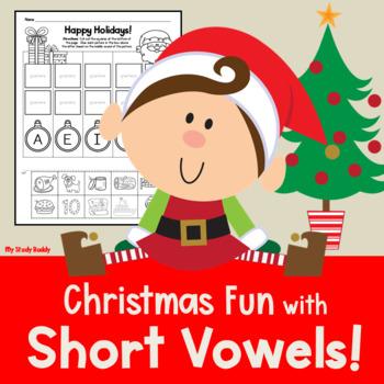 Christmas Activities:  Short Vowels (Kindergarten Phonics)