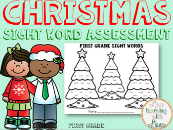 Christmas Sight Word Assessment {400 Followers! Thank you!}