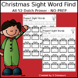 Christmas Sight Word Find: Primer