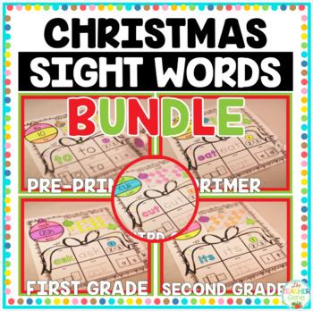 Christmas Sight Words Bundle {220 words} Print and Go