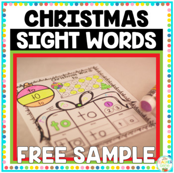 Christmas Sight Words Print and Go {Freebie}