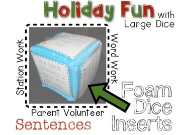Christmas Silly Sentences - Rolling Fun!