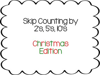 Christmas Skip Counting 2's, 5's, and 10's