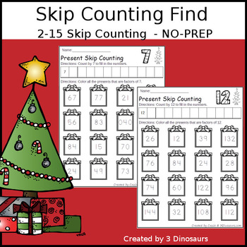 Christmas Skip Counting Number Find