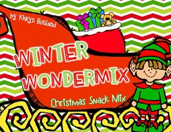 Christmas Snack Mix {Winter Wondermix} {Fun Poem} and {Bag