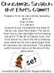 Christmas Snatch the Elves CVC Reading Game!