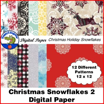 Christmas Snowflake Fabric Photo Backgrounds 2 - Digital Paper