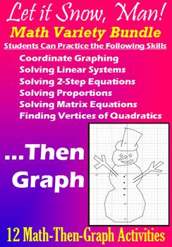 Let it Snow, Man! - Math Variety Bundle - 12 Math-Then-Gra