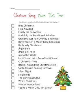 Christmas Song Name That Tune