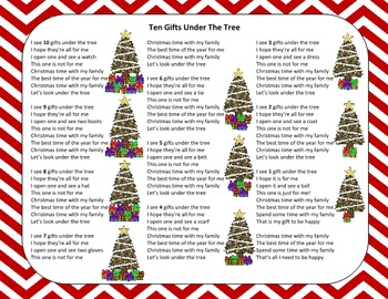 Christmas Song – Ten Gifts Under The Tree + Sing-Along Tra