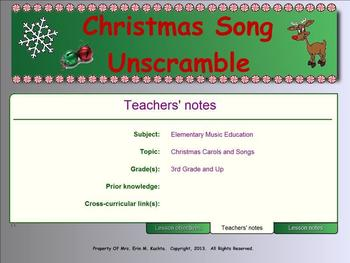 Christmas Song Title Unscramble