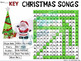 Christmas Songs Word Search