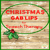 Christmas Speech Therapy Parts of Speech